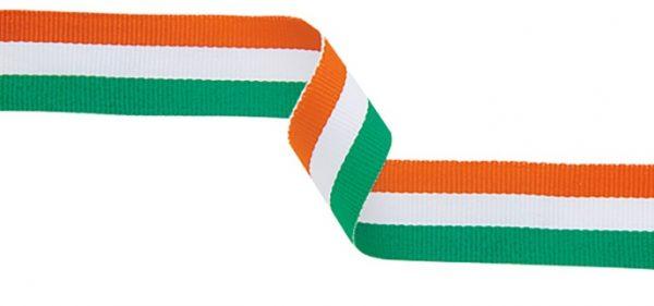 orange, white, green ribbon