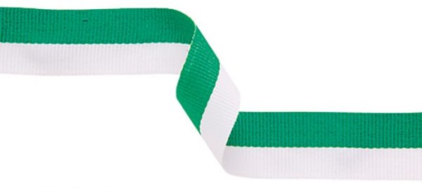 green and white ribbon