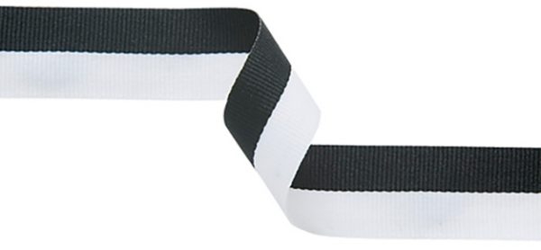 black and white ribbon