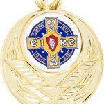 gold medal, Irish cross, celtic