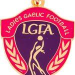 gaelic football, women's medal, pink, purple