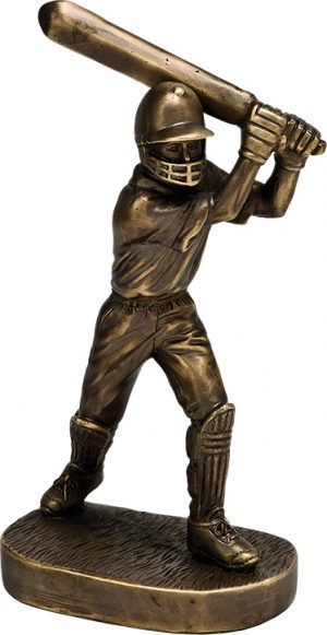 Cricket player trophy