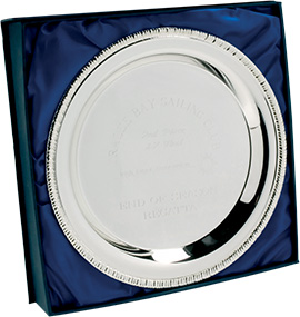 silver tray round