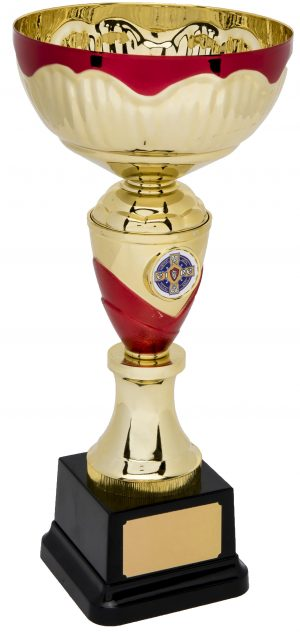 gold and red bowl trophy