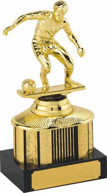 gold soccer trophy, football trophy, man