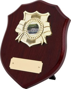 wood Dressed Shield plaque