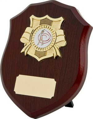 dancing award, wood shield plaque