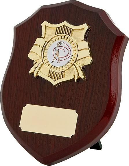 dancing award, wood shield plaque