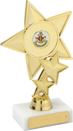 gold star trophy, marble base