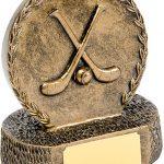 R605-49 Bronze Crossed Hurley Resin Disc/Base