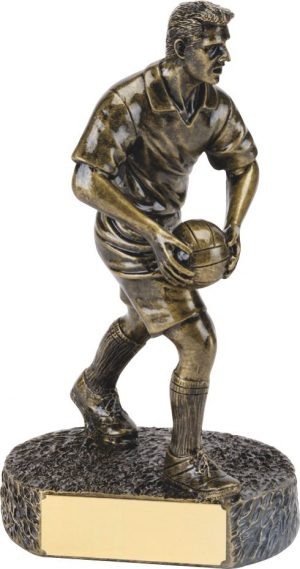 R645-50 SINGLE FOOTBALL BRONZE FIG
