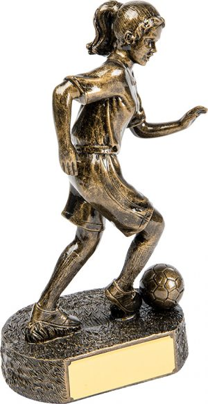 women soccer trophy, football trophy, engrave