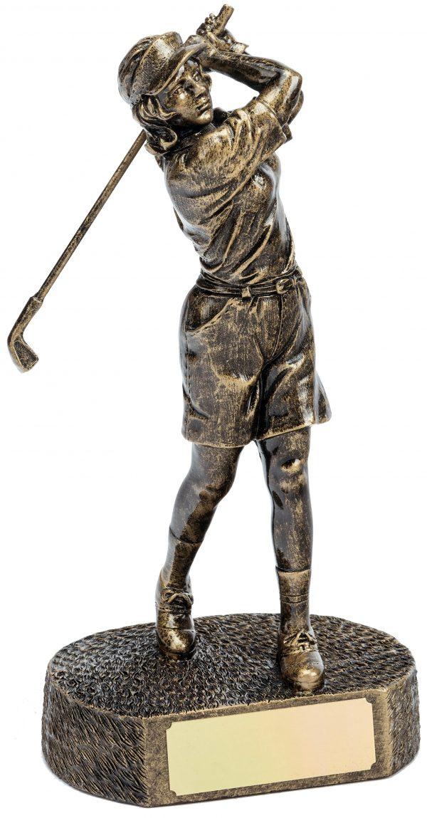 female golfer trophy