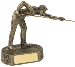 bronze snooker player, pool, trophy