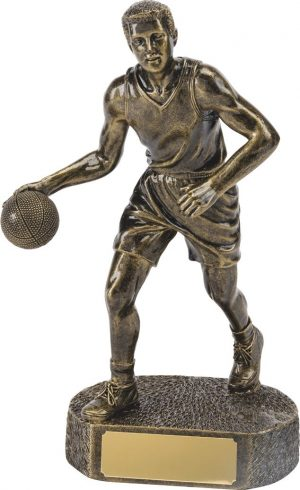 R662-42 MALE BRONZE BASKETBALL RESIN