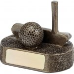 putter and golf ball trophy