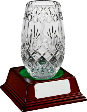 glass vase trophy
