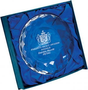 crystal award, round