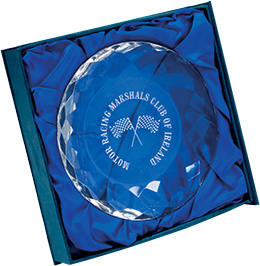 crystal paper weight award