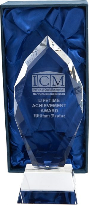 lifetime achievement award, glass