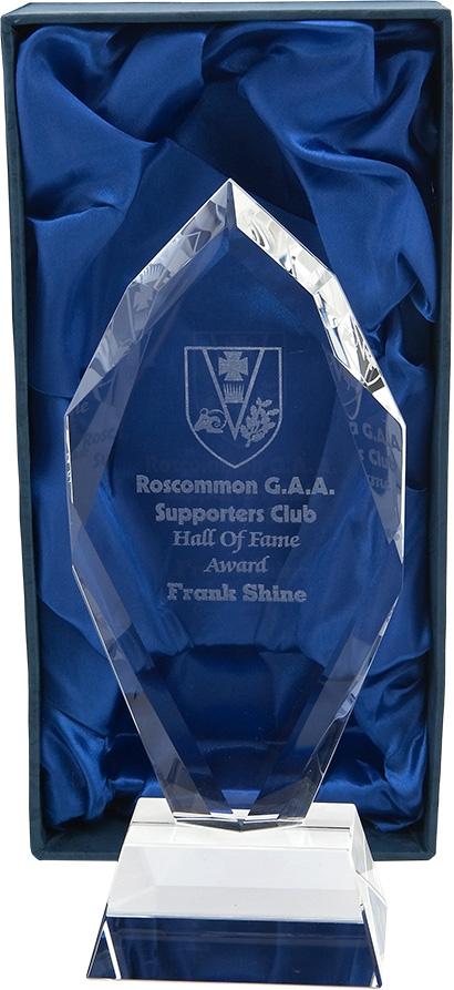 GAA award, glass plaque, trophy