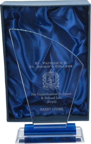 glass award, plaque