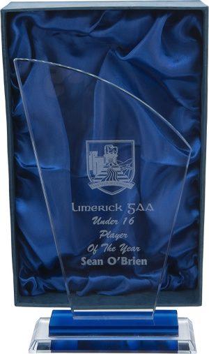 glass award, plaque