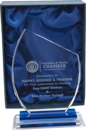 glass award, asymmetrical award