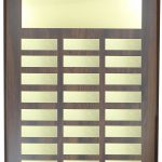 30cm Wooden Plaque with 24 Engraving Plates