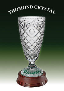 crystal cup trophy, silver